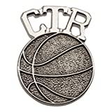 Cherished Moments CTR Tie Tac (Basketball) in Silver Tone