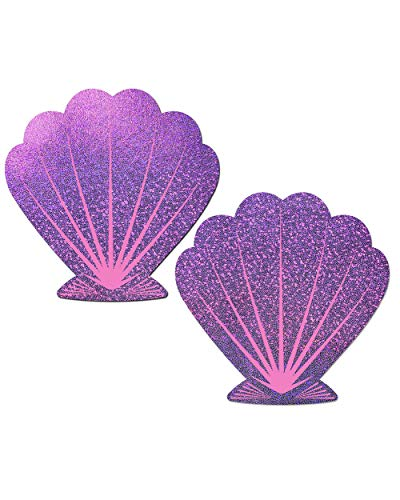 iHeartRaves Purple Mermaid Sea Shell Rave Pasties (Set of 2 Pasties)