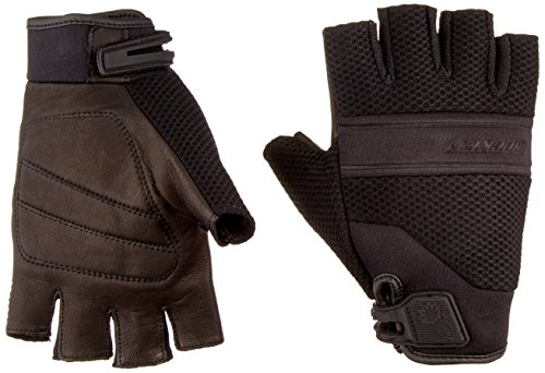 Joe Rocket Vento Men's Fingerless Motorcycle Riding Gloves (Black, Large)