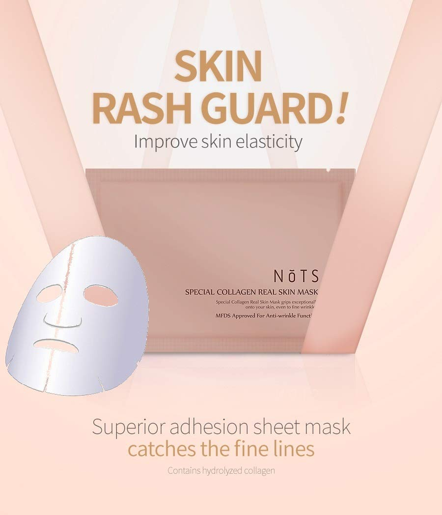 NOTS Korean Cosmetics Special Collagen Real Skin Anti-Aging Mask Superior adhesion 5-Pack Sheet Mask