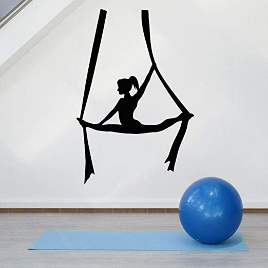 Tatuajes de pared Fly Aerial Yoga Balance Girl Center ...