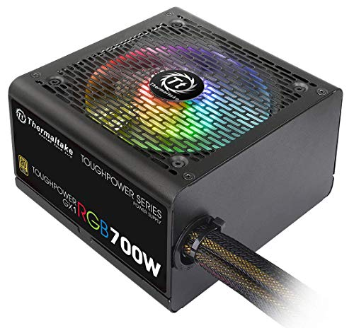 Supply Color Power - Thermaltake Toughpower GX1 RGB 700W Gold SLI/Crossfire Ready Continuous Power RGB LED ATX12V V2.4/ EPS V2.92 80 Plus Gold Certified 5 Year Warranty Non Modular Power Supply PS-TPD-0700Nhfagu-1