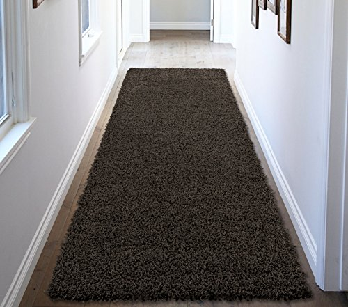 Runner Area Contemporary Rug - Ottomanson Soft Cozy Color Solid Shag Rug Contemporary Living and Bedroom Soft Shaggy Area Rug Kids Rugs (2'7