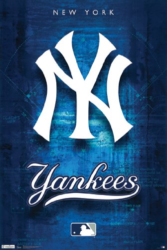 mlb new york yankees poster