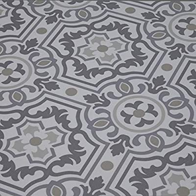 Vinyl Floor Mat, Durable, Soft and Easy to Clean, Ideal for Kitchen Floor, Mudroom or Pet Food Mat. Freestyle, Linen Tapestry Pattern
