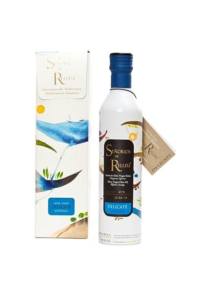 Estuche original Aceite de Oliva Virgen Extra Gourmet para regalo, sabor suave 500 ml. Coupage Arbequina