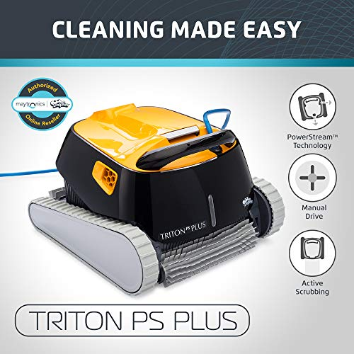 Find Discount DOLPHIN Triton PS Plus Robotic Pool Cleaner with Bluetooth Capabilities Pool Cleaning,...