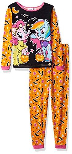 My Little PonyLittle Girl  ,  My Little Pony  2-Piece Cotton Halloween Pajama Set  ,  Orange  ,  4