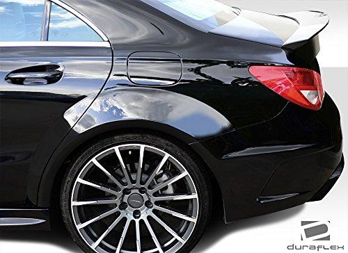 Duraflex Replacement for 2014-2015 Mercedes CLA Class Black Series Look Wide Body Rear Fenders - 4 Piece by Duraflex (Image #2)