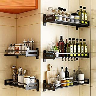 micoe Kitchen Spice Rack Shelves Stainless Steel Rack Shelf Kitchen Supplies Seasoning Rack Storage Sauce Rack,JB03A-40