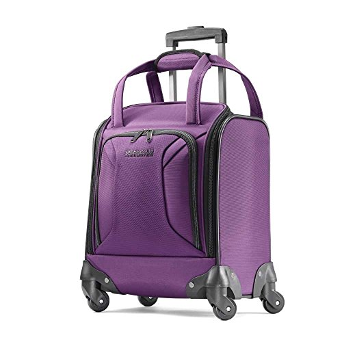 American Tourister Zoom Spinner Tote Carry-On Luggage, Purple