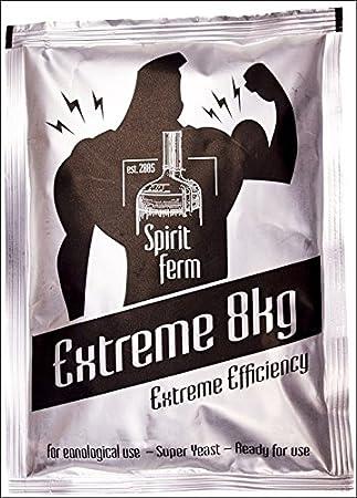 TURBO levadura - EXTREME 8 kg - diseño de bebidas alcohólicas con de alta/espíritu levadura/Vodka levaduras/Moonshine/medidor de Alcohol: Amazon.es: Hogar