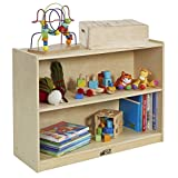 ECR4Kids Birch 2-Shelf Storage Cabinet with Back, Natural