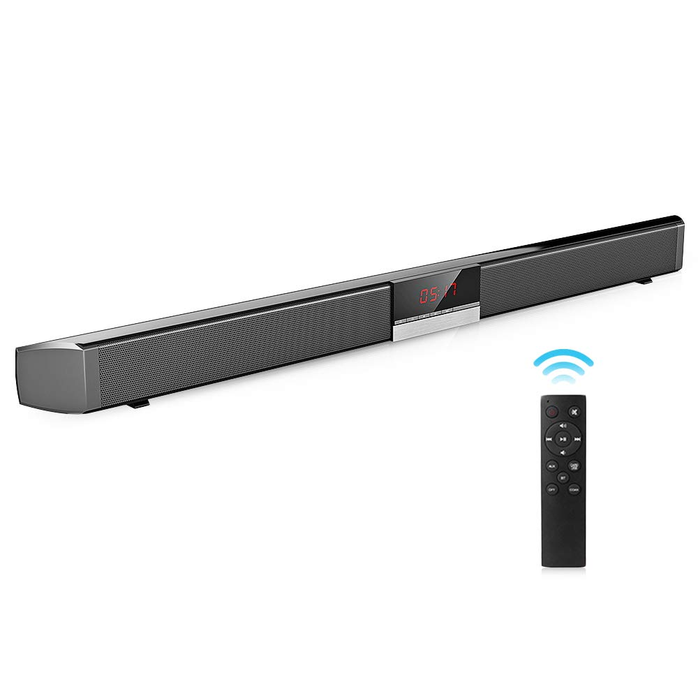 Robolife Bluetooth Sound Bar, 2-Channel TV Soundbar Speaker with LED Display with Remote Control, Stereo Surround Sound