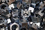 (8) Slotted Hex Castle Nuts 1-1/4-12 Fine Thread Zinc Plated 1-1/4''-12