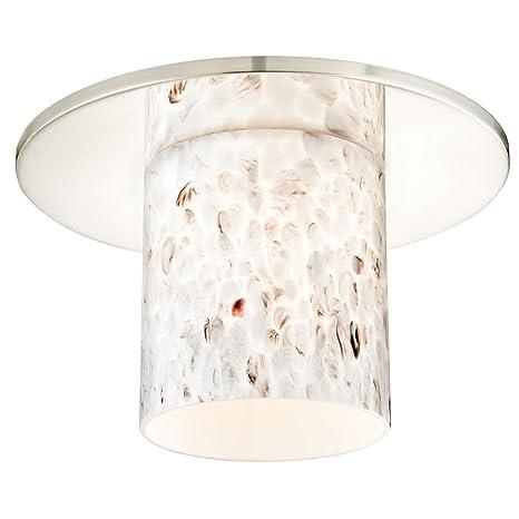 Decorativo Embellecedor de techo empotrada con arte cristal cilindro Shade