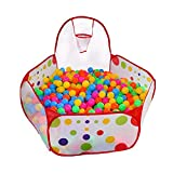 EocuSun Kids Ball Pit Ball Tent Pop up Children Baby Toy Toddler Ball Pit for Indoor Outdoor Play, Balls Not Included (Red) (Red)