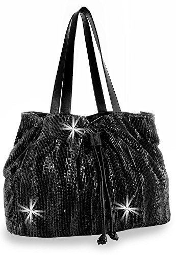 Drawstring Sequin Fashion Handbag