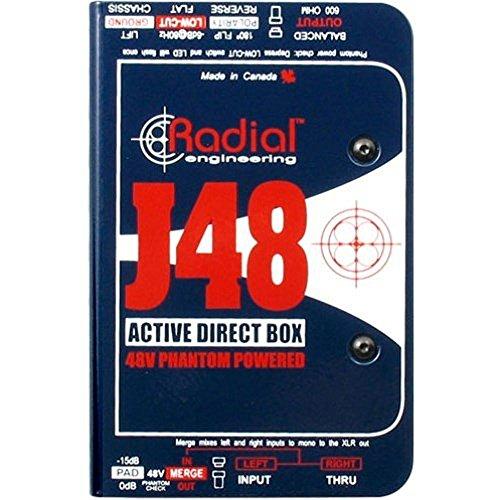 Radial J48 MK2 48V Phantom Power Active Direct Box ()