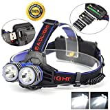WALLER PAA 11000 Lumens LED 2X XML T6 Headlamp Headlight Flashlight Head Torch AAA AA 18650