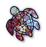 Automotive : Vinyl Junkie Graphics Sea Turtle Decal/Sticker (Mocca)