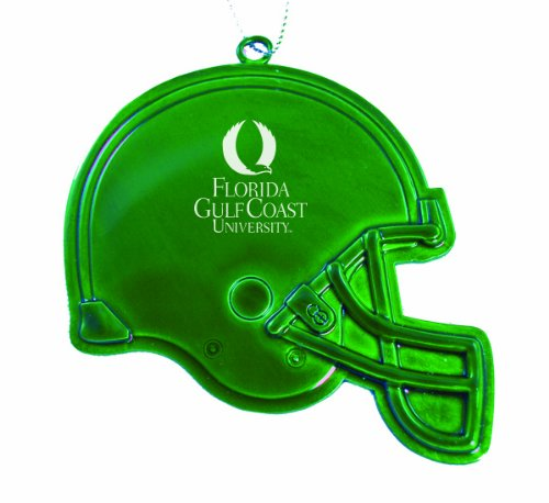 Florida Gulf Coast University - Chirstmas Holiday Football Helmet Ornament - Green (Football University Helmet Florida Of)