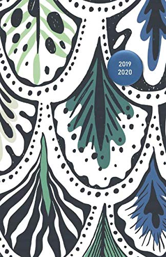 2019 - 2020: 18 Month Academic Planner from JULY 2019 through DECEMBER 2020 with yearly overviews, monthly calendars and weekly 2-page horizontal ... start week) - Peacock Feathers Pattern Design