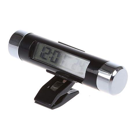 SODIAL(R) LCD Digital Termometro Reloj Retroiluminacion Temperatura Coche
