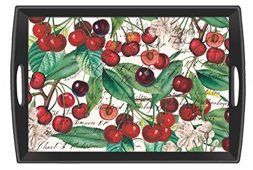 Michel Design Works Black Cherry Wooden Decoupage Tray, 2...