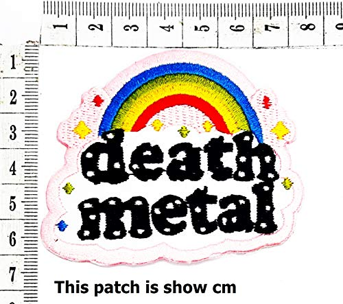 Death Metal Rainbow Stars Cute Cartoon Chidren Kids Embroidren Iron Patch/Logo Sew On Patch Clothes Bag T-Shirt Jeans Biker Badge Applique