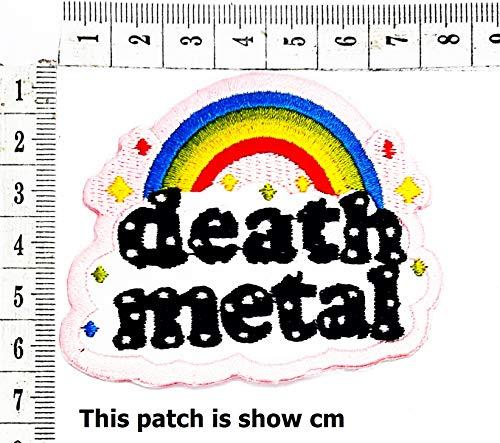 Death Metal Rainbow Stars Cute Cartoon Chidren Kids Embroidren Iron Patch/Logo Sew On Patch Clothes Bag T-Shirt Jeans Biker Badge Applique