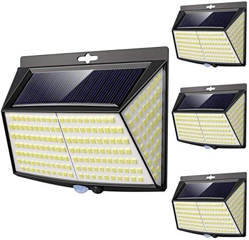 3 Modos】270 /°lluminaci/ón Focos Solares Exterior con Sensor de Movimiento Impermeable Luces Solares LED Exterior Aplique Lampara Solar para Exterior Jardin Vighep Luz Solar Exterior 228 LED,【4 Pack