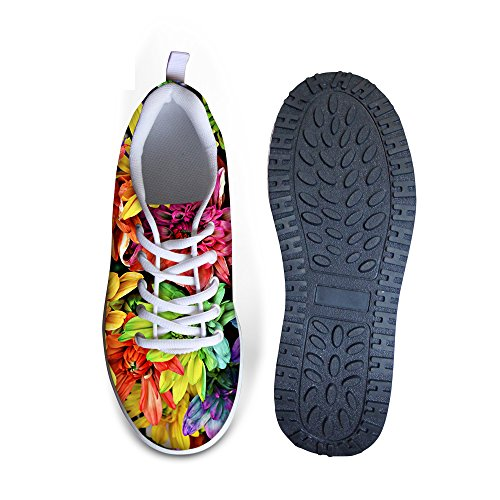 Platform A3 DESIGNS Shoes Multi Print Vintage Floral Women's Walking U FOR Rose Sneaker Fitness Casual Wedges q7CppZ