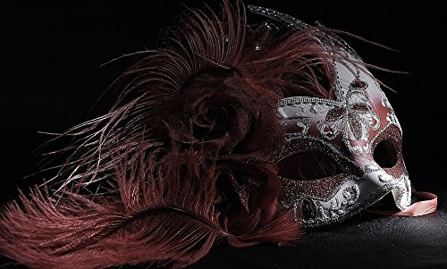 Home Comforts Laminated Poster Light Painting Venetian Mask Red Poster 24x16 Adhesive Decal