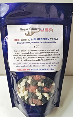 RED, WHITE & BLUEBERRY DRIED FRUITS & YOGURT COMBO 8 OZ COLD PACK SHIPPING ()