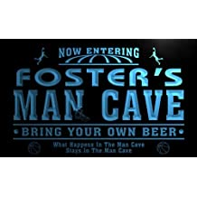 qc1093-b Foster's Man Cave Basketball Neon Beer Sign