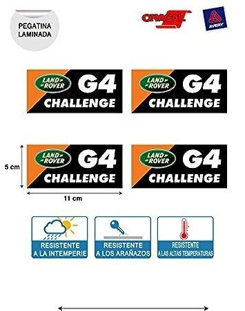 Aufkleber Aufkleber Land Rover G4 Challenge 4x4 Druck