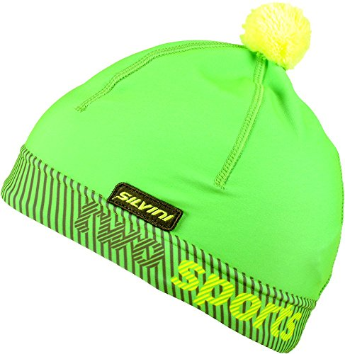 SILVINI Lightweight Beanie For Winter Sports/Ear Warmer With Thermal retention/Pala by Green-Neon L/XL - Elastane Light