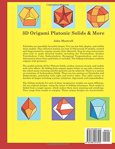 3D Origami Platonic Solids & More: John Montroll