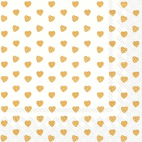 Sweethearts Lunch (Boston International L726709 Ihr Lunch Paper Napkins, 6.5