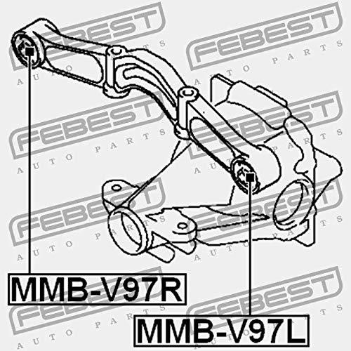 MMB-V97R SILENT BLOCK DU SUPPORT DE DIFF/ÉRENTIEL Febest