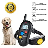 Cheap Dog Training Collar- Rechargeable Dog Shock Collar w/3 Training Modes , Beep, Vibration and Shock, IPX7 Waterproof Training Collar, Up to 1000Ft Remote Range,1-16 impact level dog training set