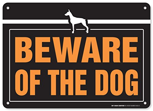 Beware Dog Laminated Warning Sign