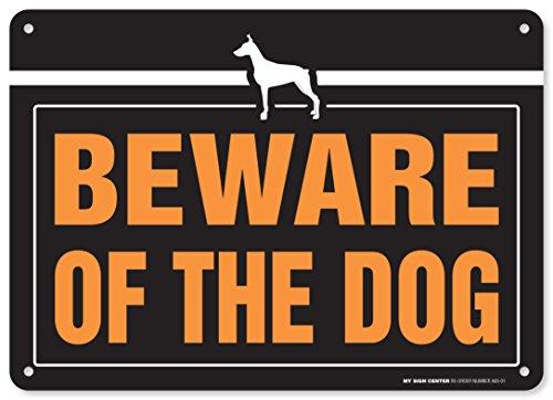 Beware of the Dog Laminated Warning Sign - Avoid Dog Bites - 10