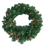 PULEO ASIA LIMITED 236-W7130-24M025 Lighted Artificial Wreath, 24-In. - Quantity 6