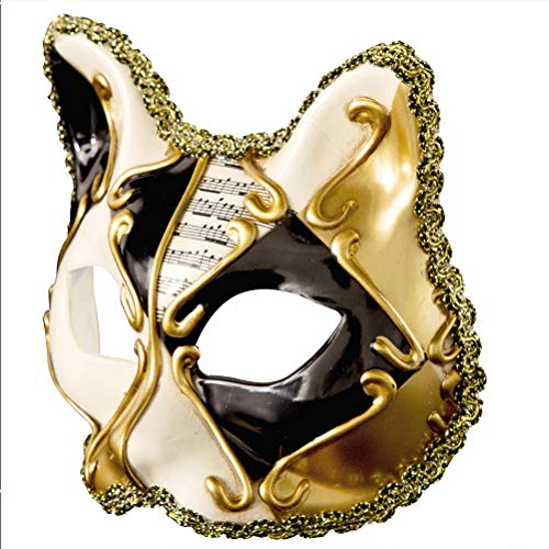 Zhhyltt Carnival Masks Dress Masquerade Night Cosplay Black Cat Halloween Mask Child Party Notes Venetian Style Fancy rrqpaP