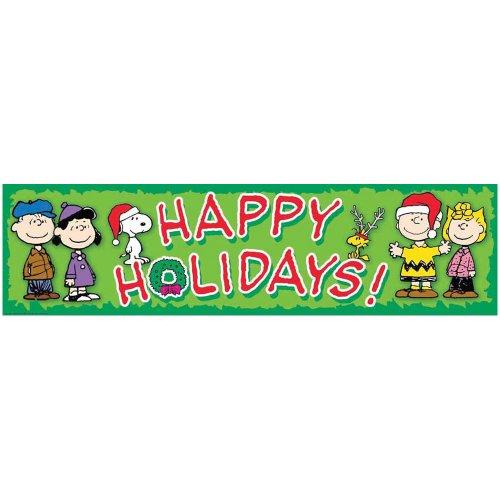 Eureka Peanuts Classroom Banner, Happy Holidays, 12