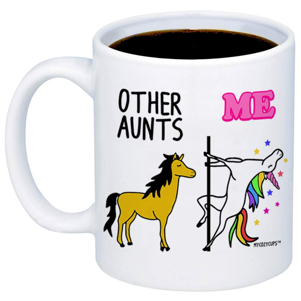 Birthday MyCozyCups Gifts For Aunts Other Aunts Me Unicorn Coffee Mug Christmas Nephew Funny Unique 11oz Cup For Auntie Favorite Aunticorn From Niece Women Sister Appreciation Gift For Her