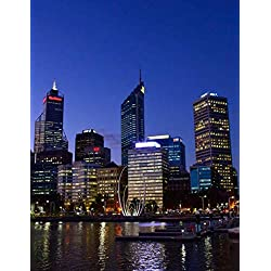 Notebook: Perth Western Australia Australian Swan River City Lights