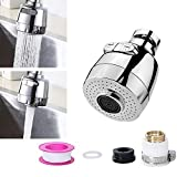 U2C Kitchen Sink Faucet Spray Head 360°Swivel Pull-Out Spray Head Replacement Part Deluxe Internal Thread Nozzle Filter Adapter Water Saving Tap Bubbler Connector Aerator Diffuser Kitchen Accessories